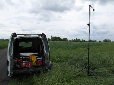 Field measurements of a retransmiter signal levels